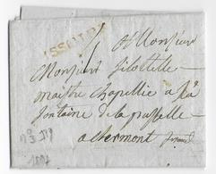 1787 - PUY DE DOME - LETTRE De ISSOIRE Avec MARQUE ROUGE ANCIEN REGIME LENAIN N°3 - IND 19 ! - Marcophilie (Lettres)