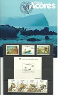 Portugal Azores, Acores1989 Year Set,birds, Boats, Mi 397-404 (not Bloc)  + Blackprint Europa, MNH - Azores