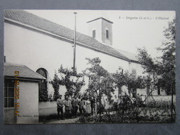 CPA 71 DIGOIN  - L'hôpital , Militaires Et Infirmières Vers 1910 - Digoin