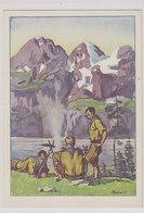 Pfadfinderlager - Signiert      (200107) - Scoutisme