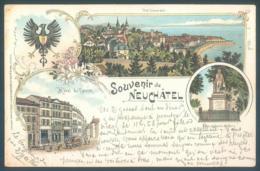 NE Souvenir De NEUCHATEL 1899 Hotel Du Faucon - NE Neuchatel