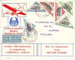 JOLIE Lettre PAR AVION De BEIRA MOZAMBIQUE Pour BLANTYRE NYASYLAND , 1935 !!! Courrier Rare !!!! - Mosambik