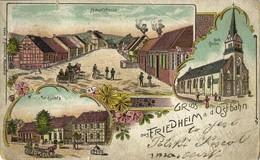 FRIEDHEIM MIASTECZKO, Hauptstrasse, Marktplatz, Kirche (1910) Polen AK - Pommern