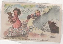 CP ILLUSTRATEUR J. LAGARDE - PAS PAR LA MARTIN, DES FOIS QUE TES PARENTS... - ENFANTS OURS EN PELUCHE & OURS POLAIRES - Autres Illustrateurs