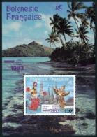 POLYNESIE 1983 - Yv. BF 8 (PA 177) **   Faciale= 0,92 EUR - Expo Phil. Bangkok'83  ..Réf.POL25024 - Blocks & Kleinbögen