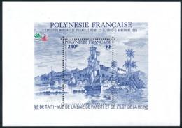 POLYNESIE 1985 - Yv. BF 11 **   Faciale= 2,02 EUR - Expo Phil. Italia'85  ..Réf.POL25027 - Blokken & Velletjes