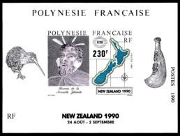 POLYNESIE 1990 - Yv. BF 17 **   Faciale= 1,93 EUR - Expo Phil. New Zealand 1990  ..Réf.POL25029 - Blokken & Velletjes