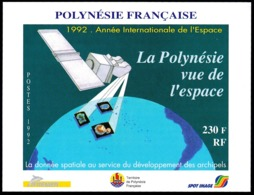 POLYNESIE 1992 - Yv. BF 19 **   Faciale= 1,93 EUR - La Polynésie Vue De L'espace  ..Réf.POL25030 - Blocks & Kleinbögen