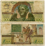 Algeria - 500 Francs - 1952 - Very Rare - Algeria