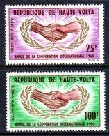 UPPER VOLTA - 1965 ICY INTERNATIONAL COOPERATION YEAR SET (2V) FINE MNH ** SG 162-163 - Upper Volta (1958-1984)