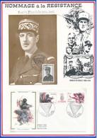 FRANCE- CARTE + ENVELOPPE COMBATS EN VERCORS 21-22 JUILLET 1984 VASSIEUX EN VERCORS - Seconda Guerra Mondiale