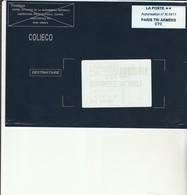 L 1 - Enveloppe Gendarmerie  COLIECO  PARIS TRI ARMEES - ROSPORDEN - Marcofilie (Brieven)