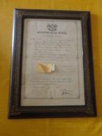 ATTESTATO MEDAGLIA D'ARGENTO VALOR MILITARE CON FIRMA ARMANDO DIAZ  - 1923 - INCORNICIATO - Documentos