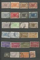 PORTUGAL Colis Postaux 1920/37- 24  Timbres  Tous Differents  Voir Scan Lot 40 - Detail Annonce - Usati