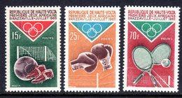 UPPER VOLTA - 1965 AFRICAN GAMES BRAZZAVILLE SET (3V) FINE MNH ** SG 164-166 - Upper Volta (1958-1984)