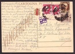 RSI, Cartolina Postale Da 30 Centesimi Con Affrancatura Aggiuntiva Fiscali         -CB47 - Storia Postale