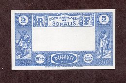 Cote Des Somalis N°167a Essai De Couleur Nsg TB!!RARE - Unused Stamps