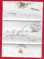 PREFILATELICA PONTIFICIO - 1832 Lettera Con Testo CANINO TOSCANELLA - Bollo CANINO - Datario E Sigillo PRIORE - 1. ...-1850 Prephilately