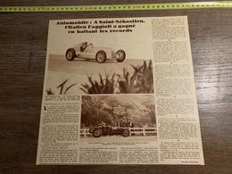 1934 M AUTOMOBILE A SAINT SEBASTIEN FAGGIOLI CIRCUIT DE LASARTE - Verzamelingen
