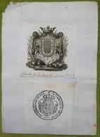 Ex-libris Héraldique, Cachet, Annoté - ESPAGNE - CASA DE QUIROS - 1806 - Ex-libris