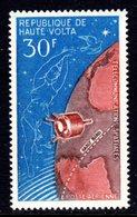 UPPER VOLTA - 1965 SATELLITE COMMUNICATION 50F STAMP FINE MNH ** SG 169 - Upper Volta (1958-1984)