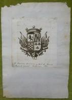 Ex-libris Héraldique, Annoté - ESPAGNE - D. RAMON MARIMON - 1810 - Ex-libris
