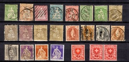 Suisse Belle Petite Collection D'anciens Neufs Et Oblitérés 1854/1927. Bonnes Valeurs. A Saisir! - Verzamelingen