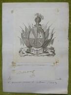 Ex-libris Héraldique, Annoté, Signature - ESPAGNE - FERNANDO GOMEZ DE BUTRON - 1823 - Ex-libris