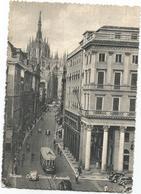 Y5149 Milano - Corso Vittorio Emanuele - Auto Cars Voitures Tram / Viaggiata 1953 - Milano (Milan)