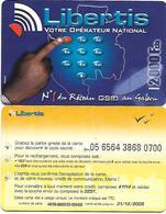@+ Gabon - Recharge LIBERTIS 2000 - Touches (31/12/2005) - Gabon