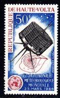 UPPER VOLTA - 1966 WORLD METEOROLOGICAL DAY 50F STAMP FINE MNH ** SG 188 - Upper Volta (1958-1984)