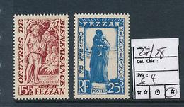 ITALIAN COLONIES FRENCH OCCUPATION FEZAN  SASSONE 27/28 LH - Ohne Zuordnung