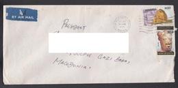 SRI LANKA, COVER / LIONS, AIR MAIL, REPUBLIC OF MACEDONIA ** - Gambie