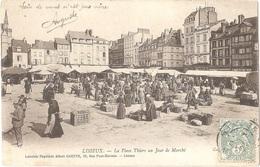 Dépt 14 - LISIEUX - La Place Thiers Un Jour De Marché - (Collection ND Phot - Librairie-Papeterie Albert GRENTE) - Lisieux