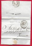 PREFILATELICA PONTIFICIO - 1855 Lettera Con Testo CANINO TOSCANELLA - Bollo CANINO E VITERBO - Datario E Sigillo UDITORE - Italy