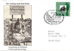 """BRD Sonder-FDC """"50. Jahrestag Der Beendigung Des Zweiten Weltkrieges"""" Mi.1795 ESSt 5.5.1995 KIEL 1 - BRD"""