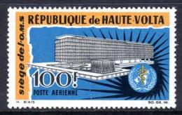 UPPER VOLTA - 1966 WHO WORLD HEALTH ORGANISATION 100F STAMP FINE MNH ** SG 195 - Upper Volta (1958-1984)