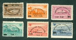 Albania 1948 Overprint Definitive Issue Michel 442 - 447 MNH - Albania