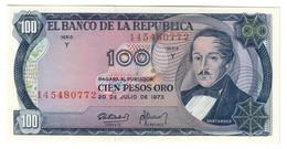 COLOMBIA100PESOS20/07/1973P415UNC.CV. - Colombie