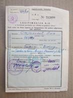 Yugoslavia Railway Ticket, 1965. ( Belgrade - Dubrovnik ) / Legitimation K-15 - Week-en Maandabonnementen