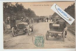 CIRCUIT AUTOMOBILE De La SARTHE 1906 : Le Départ Aux Tribunes. Equipe Bayard. - France