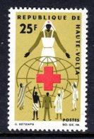UPPER VOLTA - 1966 RED CROSS 25F STAMP FINE MNH ** SG 196 - Upper Volta (1958-1984)