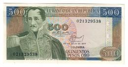 COLOMBIA500PESOS20/07/1977P420UNC-.CV. - Colombie