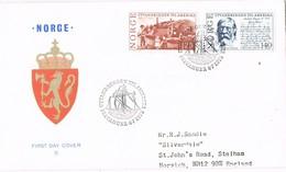 35398. Carta STAVANGER (Norge) Noruega 1975. Utavandrinjen Til AMERIKA. EXODO A America - Norwegen