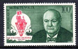 UPPER VOLTA - 1966 CHURCHILL COMMEMORATION 100F STAMP FINE MNH ** SG 203 - Upper Volta (1958-1984)