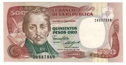 COLOMBIA500PESOS20/07/1989P431UNC.CV. - Colombie