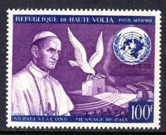 UPPER VOLTA - 1966 POPE PAUL PEACE APPEAL 100F STAMP FINE MNH ** SG 204 - Upper Volta (1958-1984)