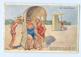 T5706/ Schnönpflug AK Badeleben Strandkorb  Humor  1917 - Illustrators & Photographers