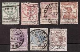 Regno, Serie Parastatali Ufficio Nazionale Collocamento Disoccupati Usata (certificato Sottoriva)       -CC49 - 1900-44 Victor Emmanuel III