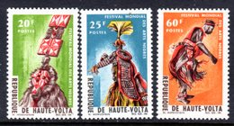 UPPER VOLTA - 1966 ARTS FESTIVAL DAKAR SET (3V) FINE MNH ** SG 189-191 - Upper Volta (1958-1984)